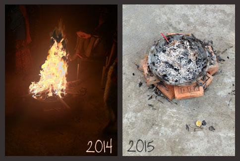 Bonfire night and morning